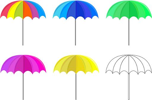 傘持ち手なし